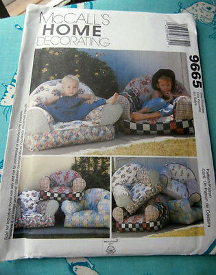 Oop McCalls Home Decorating 9665 Kid Chairs NEW