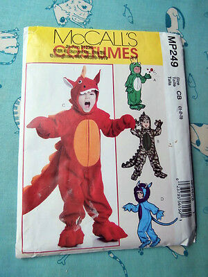 Oop McCalls Costumes 249 toddlers dragon frog dinosaur NEW