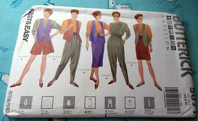 Oop Butterick 5071 vest top skirt shorts harem loose fitting pants sash XS-M NEW