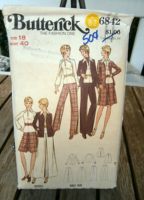 Oop 1970s Butterick 6842 Womens suit ensemble size 18 Very retro  Unused