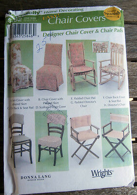 Oop Simplicity Easy Chair Covers Pads 5952 Donna Lang NEW