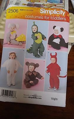 Oop Simplicity costumes toddlers 2506 halloween mouse angel devil sizes 6m-4NEW