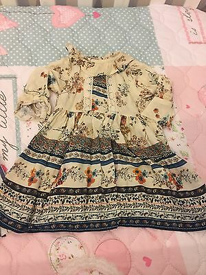 Baby Girls Next Boho Style Summer Dress 3-6 Months