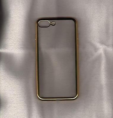 """Apple iPhone 7 Plus (5.5"""") Soft Gold Edge Shockproof Cover Case Skin Protector"""