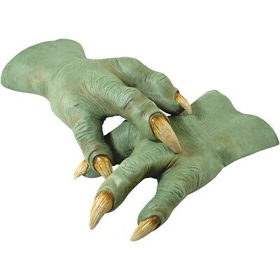 Yoda Hands Jedi Master Costume Accessory Adult Star Wars Halloween