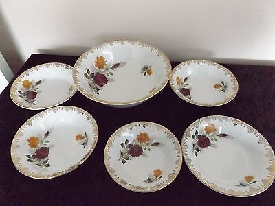 Bowls set - ALFRED MEAKIN  GLO -WHITE ROSE DUET