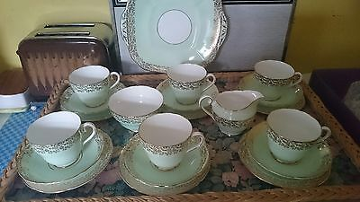 Vintage retro Adderley Fine Bone China Tea Set  of 6 with  Gold VGC