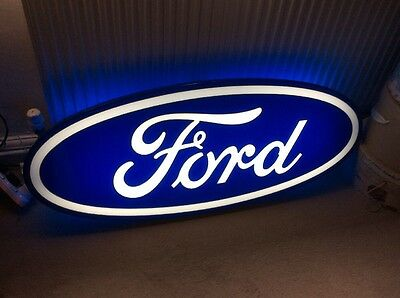Ford Dealership Illuminated Sign Strictly Collection Only