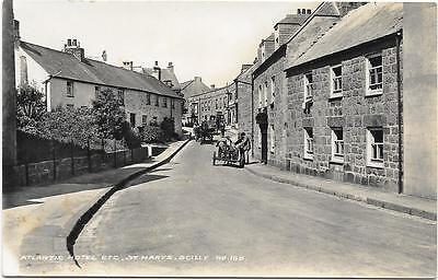 933   Rppc Atlantic Hotel Etc St Marys Scilly  By James Gison Scilly Isles