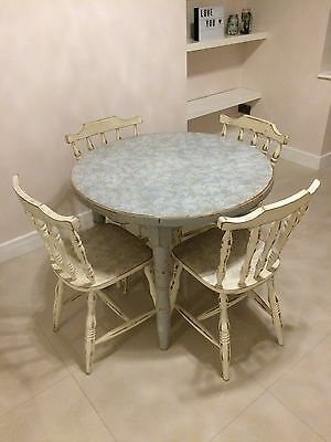 Upcycled Vintage Style Dining Table And Chairs