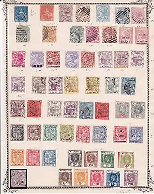 British Colony Mauritius Page with Early Issues