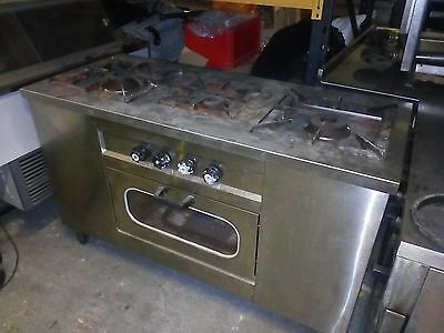 commercial cooker, oven, gas, stainless steel