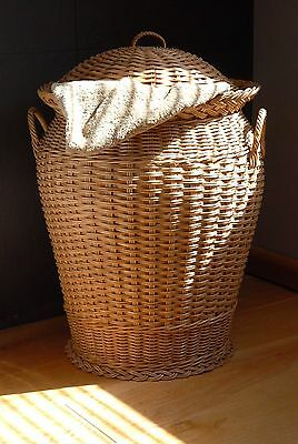 wicker laundry basket ...candy brown dome top rattan linen bin