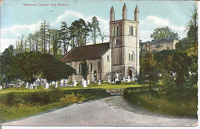 Original Vtg pc Glasbury-on-Wye, Church & School pu 1909
