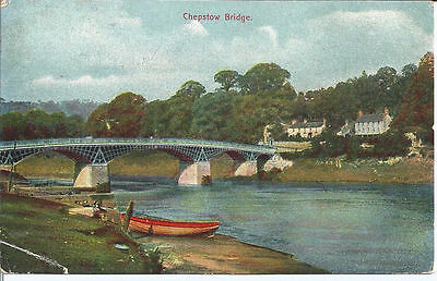Vtg pc Chepstow Bridge, pu 1907