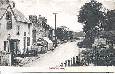Original Vtg pc Glasbury-on-Wye, pu 1906