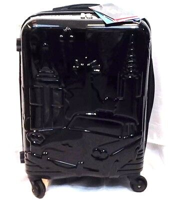 """IT luggage St.Louis Spinner Embossed Expandable  Carry on Black NWT 22"""""""