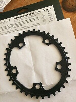 Absolute BLACK Oval 38t Road Ring 110 5bcd Chainring