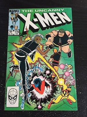 Uncanny X-men#178 Awesome Condition 8.0 Brotherhood Of Evil Mutants Battle(1984)
