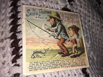 Vintage 1879 J & P Coats Spool & Cotton Donald Brothers Trade Card