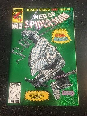 Web Of Spider-Man#100 Incredible Condition 9.4(1993) 1st Spider-Armor App!!