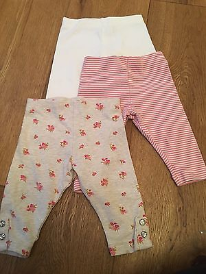 NEXT 3-6 Month Girls Leggings/trousers X3