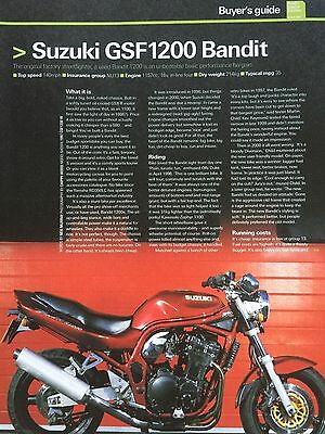 Suzuki Gsf1200 Bandit - Original 6 Page Motorcycle Article / Buyers Guide