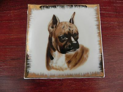 Boxer Dog Wall Hanging Collectors Plate