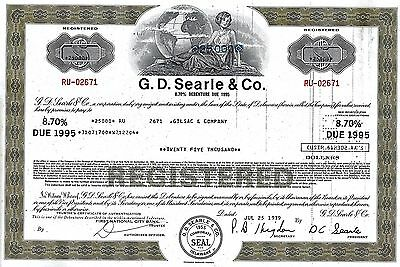 G. D. Searle & Co., 1974,  7 1/2% Note due 1979 (25.000 $)