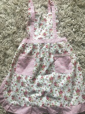 New Handmade Pretty Pinks Vintage Floral Country Cottage Cooking Baking Apron