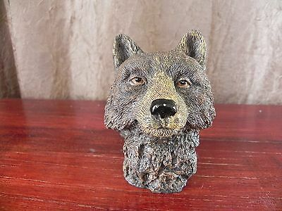 Resin Realistic Wolf Head Figurine