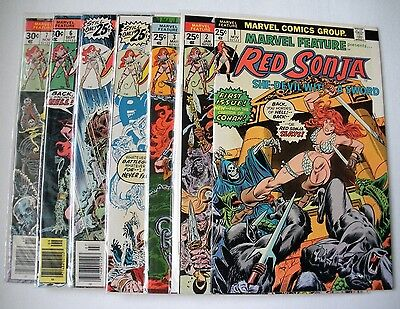 Marvel Feature # 1 - 7  Red Sonya (Nov 1975, Marvel) (collection) all 9.2 NM-