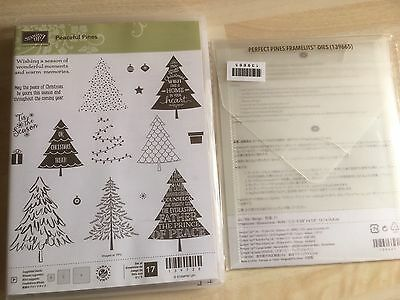 Sizzix stampin up Peaceful Pines Stamp Set & Matching Framelits Die Retired