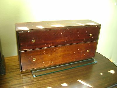 """Vintage Late 1800's Antique Pine 2-Drawer Counter Cabinet """"Robeson Cutlery Co."""""""