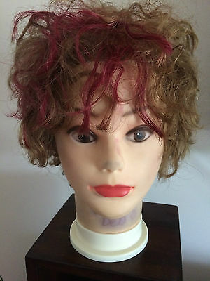 Hairdressing Mannequin - Used - Great for Practicing Blow Drying Etc. Real Hair