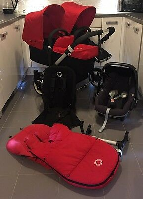 Bugaboo Donkey Duo V1.1 With Footmuff And Maxi Cosi Pebble Comfort Harness