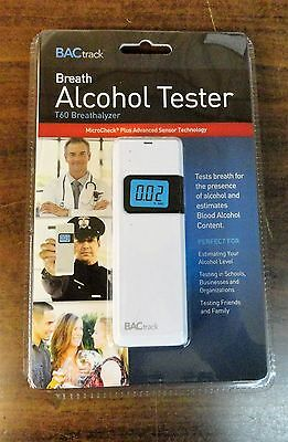 BACtrack Breath Alcohol Tester T60 Breathalyzer White NEW Factory Sealed