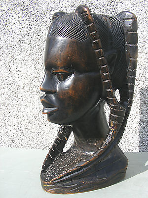 Antique Vintage African Bust Large Tribal Lady