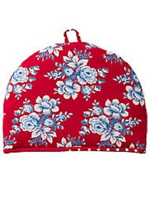 April Cornell Tea Cozy Reversible Willa Rose Collection NWT 100% Cotton Red