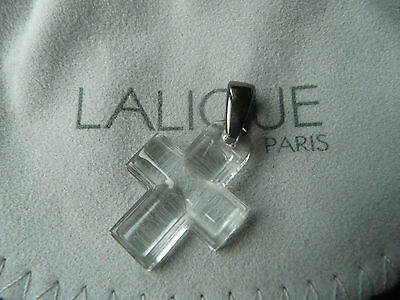 Lalique clear crystal cross