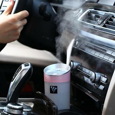300ML Brumisateur Rechargeable Humidificateur D'air Ultrasons Voiture- Rose
