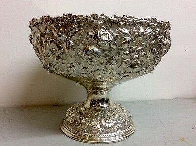 Amazing Sterling Silver Repousse Fruit Bowl Kirk Style