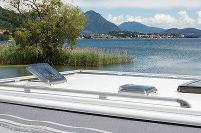 FIAMMA ROOF LIGHT CRYSTAL VENT 28cm MOTORHOME CAMPERVAN BOAT WITH FLYSCREEN NET