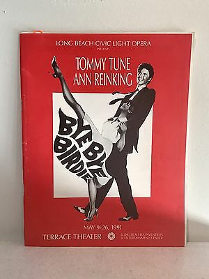 Tommy Tune, Ann Reinking Theatre Program BYE BYE BABY SIGNED-FULL CAST  1991