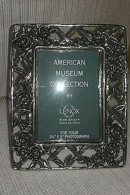 Lenox American Museum Pewter Trellis Picture Frame Kirk Stieff, Made in America