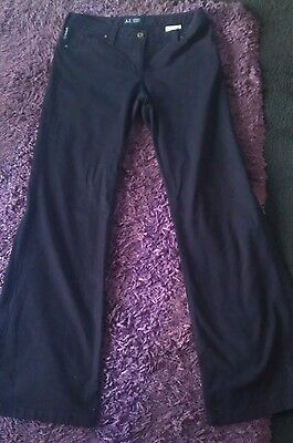 Mens Black Armani Jeans Trousers Chinos 28W 32L
