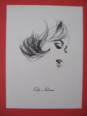 1970 Rare EDIE ADAMS Sketch Profile Actress Movie / Film Magazine Print Ad