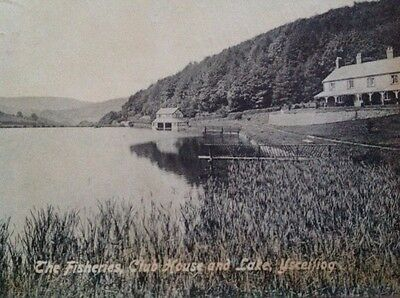 The Fisheries, Club House & Lake, Ysceifiog, Flintshire postcard