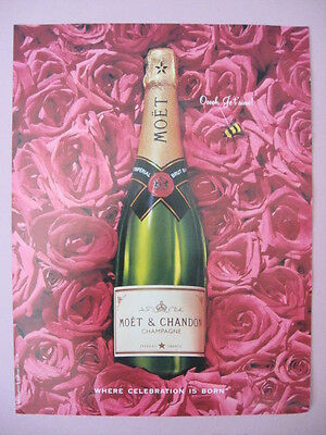 1994 MOET & CHANDON CHAMPAGNE France Where Celebration is Born Print Ad Page
