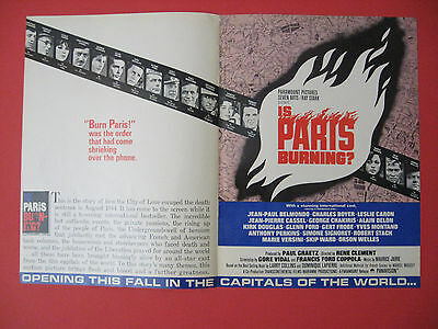 1966 2-Page IS PARIS BURNING? Francis Ford Coppola Movie Release Scarce Trade Ad
